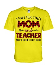 Mom and teacher V-Neck T-Shirt thumbnail