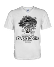 Loved books V-Neck T-Shirt thumbnail