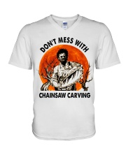 Don't mess with chainsaw carving V-Neck T-Shirt thumbnail