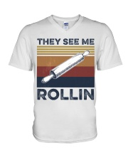 They see me rollin V-Neck T-Shirt thumbnail