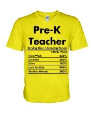 Pre K teacher V-Neck T-Shirt thumbnail