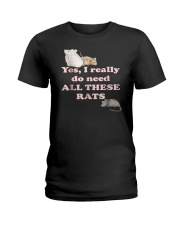 Yes I Need All These Rats Funny Mouse Lover T Shir Ladies T-Shirt thumbnail