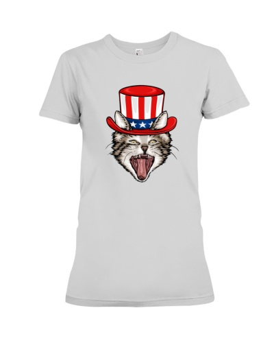 USA Flag Patriotic Gift Cat Lover 4Th Of July