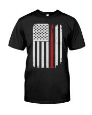 Crochet Hook Yarn American Flag Classic T-Shirt thumbnail