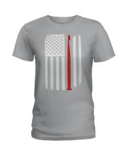 Crochet Hook Yarn American Flag Ladies T-Shirt thumbnail