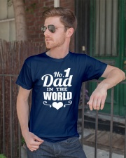 Fathers Day 2018 No 1 Dad In The World Classic T-Shirt lifestyle-mens-crewneck-front-2