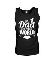 Fathers Day 2018 No 1 Dad In The World Unisex Tank thumbnail