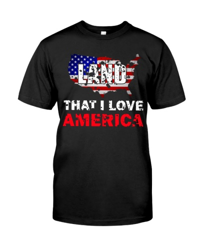 4th Of July American Flag Land That I Love