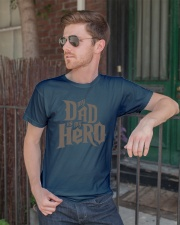 Fathers Day 2018 My Dad Is My Hero Classic T-Shirt lifestyle-mens-crewneck-front-2