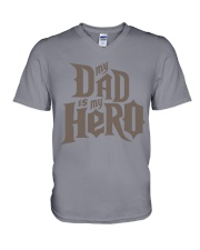 Fathers Day 2018 My Dad Is My Hero V-Neck T-Shirt thumbnail