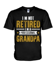 I'm Not Retired Professional Grandpa V-Neck T-Shirt thumbnail