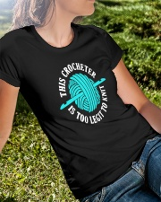 This Crocheter Is Too Legit To Knit Premium Fit Ladies Tee lifestyle-women-crewneck-front-8
