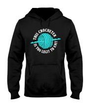This Crocheter Is Too Legit To Knit Hooded Sweatshirt thumbnail