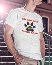 Lgbt Pride Mama Bear Protects Her Cub Classic T-Shirt lifestyle-mens-crewneck-front-5