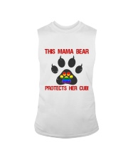 Lgbt Pride Mama Bear Protects Her Cub Sleeveless Tee tile
