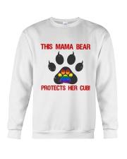 Lgbt Pride Mama Bear Protects Her Cub Crewneck Sweatshirt thumbnail