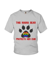 Lgbt Pride Mama Bear Protects Her Cub Youth T-Shirt tile