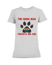 Lgbt Pride Mama Bear Protects Her Cub Premium Fit Ladies Tee thumbnail