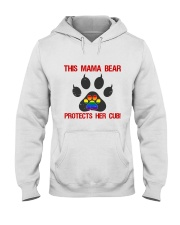 Lgbt Pride Mama Bear Protects Her Cub Hooded Sweatshirt tile