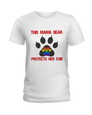 Lgbt Pride Mama Bear Protects Her Cub Ladies T-Shirt tile