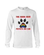 Lgbt Pride Mama Bear Protects Her Cub Long Sleeve Tee tile