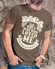 Fathers Day 2018 Papa Love Unconditionally Classic T-Shirt lifestyle-mens-crewneck-front-4