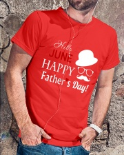 Hello June Happy Fathers Day 2018 Classic T-Shirt lifestyle-mens-crewneck-front-4