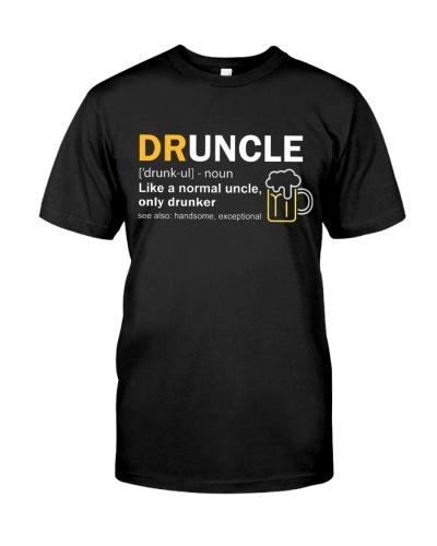 Druncle Definition Uncle Only Drunker Shirt
