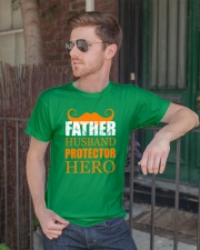 Fathers Day 2018 Father Husband Hero Classic T-Shirt lifestyle-mens-crewneck-front-2