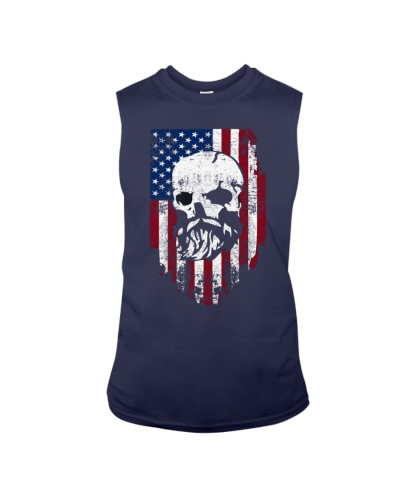 Bearded Skull and US Flag Independence Day