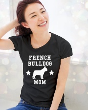 FRENCH BULLDOG MOM SHIRT Ladies T-Shirt lifestyle-holiday-womenscrewneck-front-1