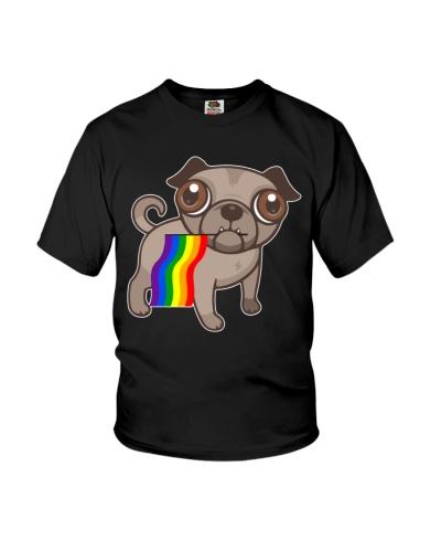 LGBT Bulldog Pride Rainbow Flag