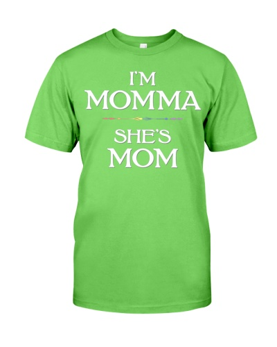 I m Momma She s Mom Lesbian Mothers Day Tee