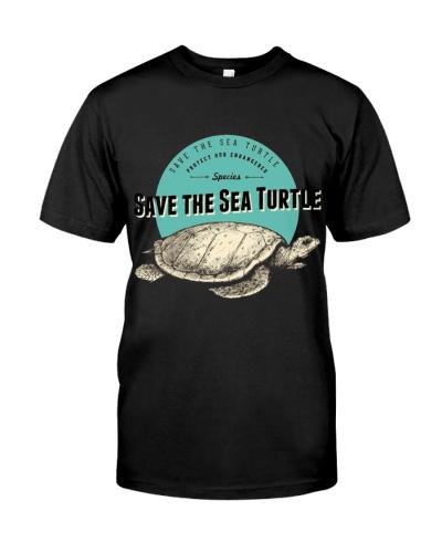 Save the Sea Turtle Endangered Species Tee