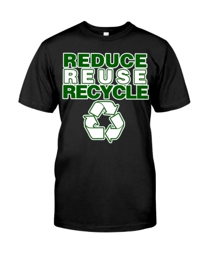 Reduce Reuse recycle for earth day