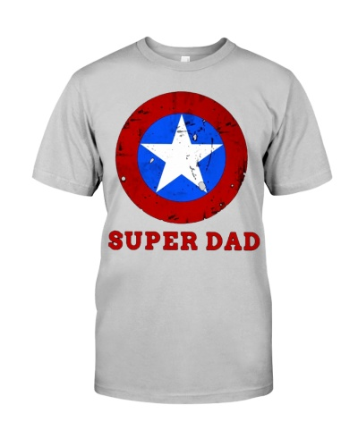 af435f42 Super Dad Tee Funny Superhero Fathers Day