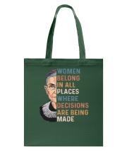 Ruth Bader Ginsburg T-Shirts Tote Bag thumbnail