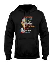 Women belong in all places RBG Hooded Sweatshirt thumbnail