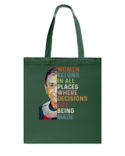 Women belong in all places RBG Tote Bag thumbnail
