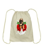 German Shepherd Christmas Drawstring Bag thumbnail