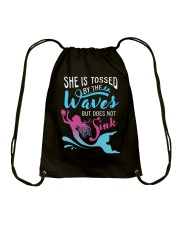 She Is Tossed By The Wave - Sink Drawstring Bag thumbnail