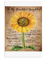 TO MY BEAUTIFUL DAUGHTER B02 11x17 Poster front