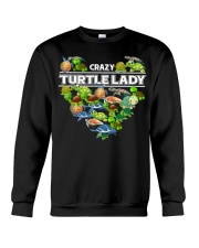 Crazy Turtle Lady Crewneck Sweatshirt thumbnail