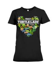 Crazy Turtle Lady Premium Fit Ladies Tee thumbnail