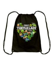 Crazy Turtle Lady Drawstring Bag thumbnail