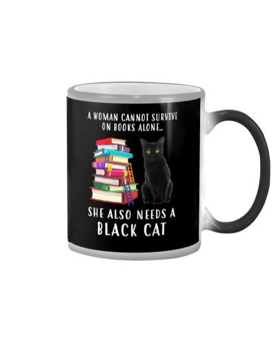 Black Cat and Book