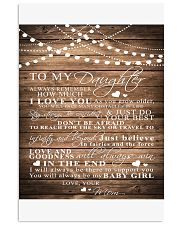 TO MY DAUGHTER B03 11x17 Poster front