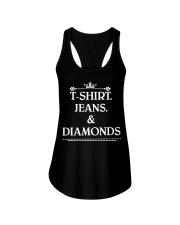 Jeans and diamonds Ladies Flowy Tank thumbnail