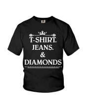 Jeans and diamonds Youth T-Shirt thumbnail