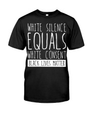 white silence equals white consent Premium Fit Mens Tee thumbnail
